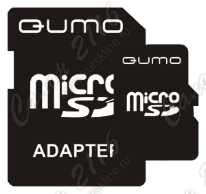 Карта памяти QUMO MicroSecureDigital High Capacity (microSDHC) 32Gb Class10 + адаптер microSD-->SD