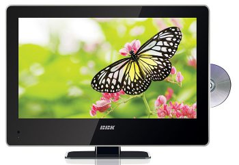 "LCD-телевизор+DVD плеер 24"" BBK LED2452HD glass front черный FULL HD DVD USB"