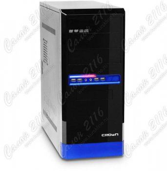 Корпус CROWN CMC-32 black/blue ATX 400W