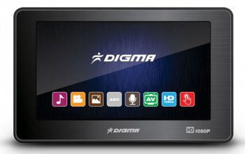 "Мультимедиа плеер Флеш Digma D4 4Gb black 4.3"" TFT 480Х272 touch/1080P/MKV/AVI/MOV//TV OUT/MicroSD/1800mAh"