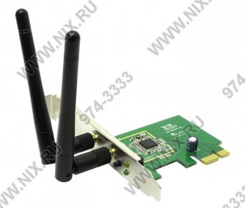 Адаптер беспроводной связи ASUS PCE-N15 Wireless LAN PCI-E Adapter (RTL) (802.11n, PCI-Ex1, 300Mbps)