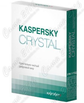 Программное обеспечение Kaspersky CRYSTAL Russian Edition Renewal Card 2 ПК 1 год