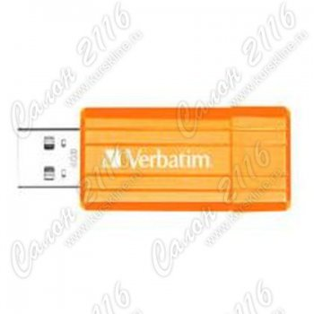 Накопитель USB Verbatim 4Gb Pinstripe Orange