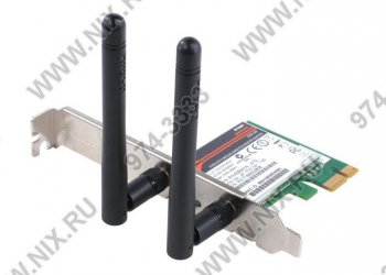 Адаптер беспроводной связи D-Link <DWA-566> Wireless PCI-E Dual-Band Adapter (802.11a/b/g/n, 300Mbps)