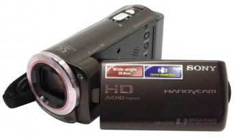 "Видеокамера SONY HDR-CX250E <Brown>Digital HD Handycam (AVCHD1080p, 5.4Mpx, 30xZoom, стерео, 3.0"", MS Duo/SDXC, USB/HDMI)"