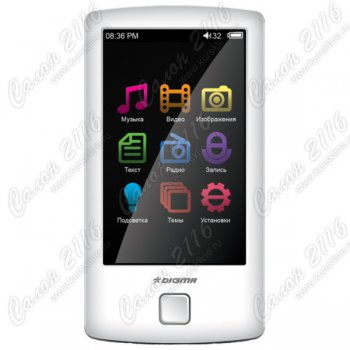 "Мультимедиа плеер Digma Z3 8Gb White 3"" FM Touch screen 720P AVI/XVID/MOV/MKV/FLV/DAT"