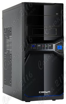Корпус CROWN CMC-SM600 black/blue ATX 400W
