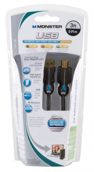 Кабель Monster USB - Advanced High Speed 0.9M DL USB AS-3 EU (122178)
