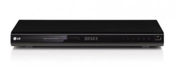 Проигрыватель DVD LG DVX697KH 430mm, HDMI, Full HD upscaling, USB Plus, USB Direct Recording, Karaoke (Mic In x2, 200 songs disc)