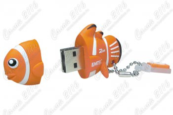 Накопитель USB Emtec <EKMMD4GM317> Clown Fish USB 2.0 Flash Drive 4Gb