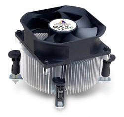 Для процессора GlacialTech Igloo 5063 Light Soc-775/1155/1156 Al Sleeve 2600RPM Push-pin 3pin 95W RTL