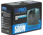 Блок питания HIPRO HPD580W-80Plus, 580Вт, ATX12V 2.3, 80 PLUS, A.PFC, 2x PCI-E (6+2-Pin), 6x SATA, 3х MOLEX, 12см вент-р