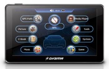 "Навигатор GPS Digma DS502N 5"" Atlas V 600MHz 4Gb Карты Навител 5"