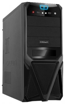 Корпус CROWN CMC-SM161 black ATX 400W