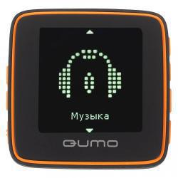 Плеер /MP4 Qumo Boxon sport - 4Gb rubber black/orange