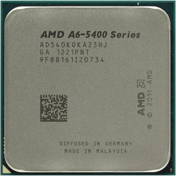 Процессор AMD A6-5400K (AD540KO) 3.6 ГГц/2core/SVGA RADEON HD 7540D/ 1 Мб/65 Вт/5 ГТ/с Socket FM2