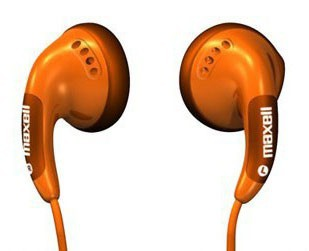 Наушники Maxell Orange Colour Budz Вкладыши (303360)
