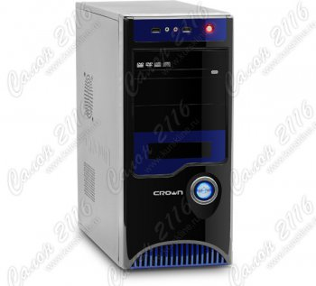 Корпус CROWN CMC-42 black/blue ATX без БП