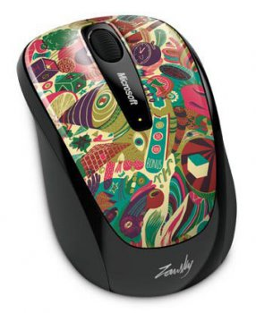 Мышь беспроводная Microsoft 3500 Wireless Mobile Mac/Win USB Artist Zansky (GMF-00257)