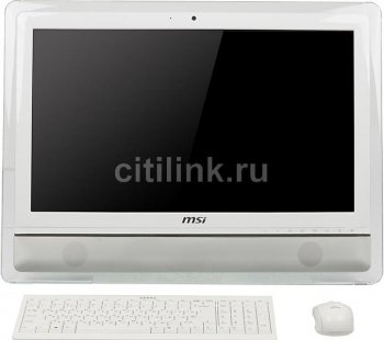 "Моноблок MSI AE2410G-231RU 23.6"" HD Touch P 960/4Gb/500Gb/GT630M 1Gb/DVDRW/MCR/W7HP64/WiFi/white/300cd/1000:1 1920*1080/Web/беспроводная клавиатура/бе"