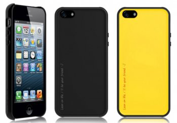 Чехол Araree Amy 1+2 для iPhone 5 Gun Black + Yellow