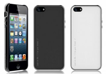 Чехол Araree Amy 1+2 для iPhone 5 Metalized Black + White