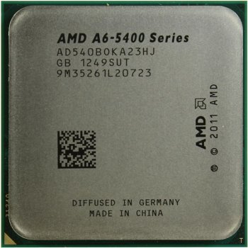 Процессор AMD A6-5400B (AD540BO) 3.6 ГГц/2core/SVGA RADEON HD 7540D/ 1 Мб/65 Вт/5 ГТ/с Socket FM2