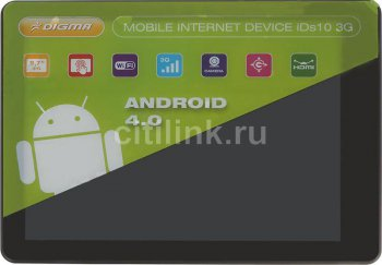 "Планшетный компьютер Digma IDs 10 3G A8 (1.2)/RAM1Gb/ROM8Gb/9.7"" IPS 1024*768/3G/WiFi/3Mp/1.3Mp/And4.0/aluminum/Touch/microSDHC 32Gb/GPRS/EDGE/mHDMI/m"