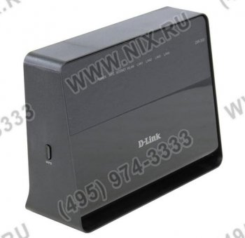 Маршрутизатор D-Link <DIR-300/A/D1A> Wireless 150 Router (4UTP 10/100Mbps, 1WAN, 802.11b/g/n, 150Mbps)