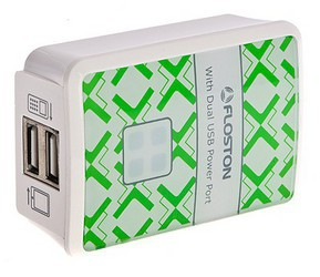 Адаптер питания USB Floston F47TIPAE 2USB, Europe plug, All iPad & iPhone & iPod/ Mobile phone