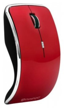 Мышь беспроводная PRESTIGIO (Wireless, Optical 800/1600dpi,4 btn,USB), Red <J1PMSOW05RD>