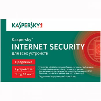 Программное обеспечение Kaspersky Internet Security Multi-Device Russian Edition. 2-Device 1 year Renewal Card