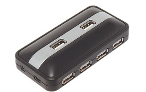 Концентратор USB 2.0 Konoos UK-13, 7 портов USB, коробка