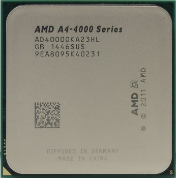 Процессор AMD A4-4000 BOX (AD4000O) 3.0 GHz/2core/SVGA RADEON HD 7480D/ 1 Мб/65W/5 GT/s Socket FM2