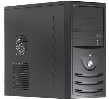 Корпус 3Cott 5001, mATX, черный, USB/Audio, 350Вт