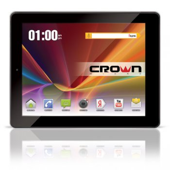 "Планшетный компьютер CROWN CM-B902 3G Black MTK8389 Quadcore 1.2GHz*4/ 1Gb/ 16Gb/WiFi/BT/GPS/ Andr 4.1.1/ 9.7"" IPS"