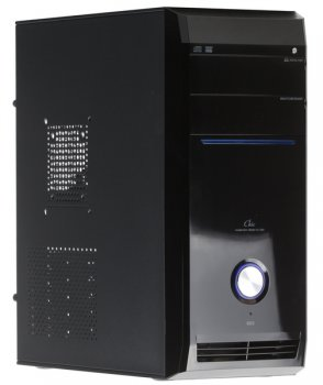 Корпус H-221 Black 450W 20+4pin SATA USB/Audio