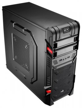 Корпус Aerocool GT Black Advance без БП, Entry Mid Tower, ATX, сталь 0.5мм, USB 3.0, вент-ры: 1x12см LED и 1x12см