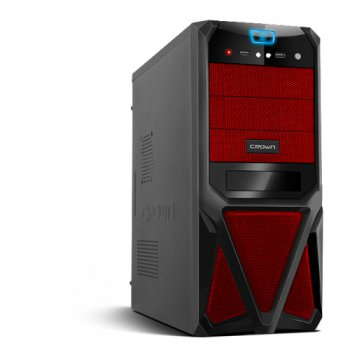 Корпус CROWN CMC-SM161 black/red ATX 450W