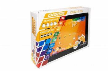 "Планшетный компьютер Digma IDsQ 10 3G QuadCore Cortex A7 (1.2)/RAM1Gb/ROM16Gb/9.7"" IPS 1024*768/3G/WiFi/5Mp/2Mp/And4.1/black/Touch/microSD 32Gb"