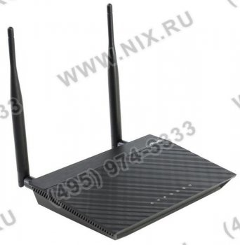 Маршрутизатор ASUS <RT-N12 ver.D1> SuperSpeedN Router (RTL) (802.11b/g/n, 4UTP 10/100 Mbps, 1WAN, 300Mbps, 2x5dBi)