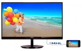 "Монитор Philips 27"" 274E5QHSB (00/01) Black AH- IPS LED 14ms 16:9 DVI HDMI 20M:1 250cd"