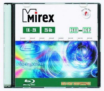 Диск BD-RE Mirex 25Gb 2x slim case