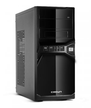 Корпус CROWN CMC-SM600 black/silver ATX 450W