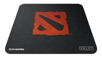 Коврик для мыши Steelseries QCK Mini Dota 2 Edition 63321 черный gaming резина/ткань 250 x 200 x 2мм