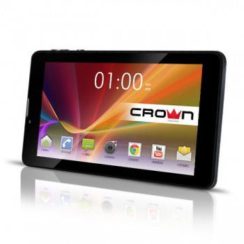 Планшетный компьютер CROWN CM-B760 3G Black Dual-Core MTK8312 1.3GHz*2/ 512Gb/ 4Gb/ WiFi/BT/GPS/ Andr 4.2/ 7""