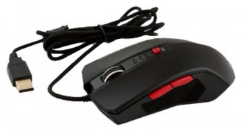 Мышь Mediana GM-61 black optical (800/1200/1600/2400dpi) gamer 6but USB