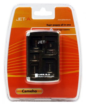 Картридер Jet.A Cameho CR1 USB 2.0 All-in-ONE Черный