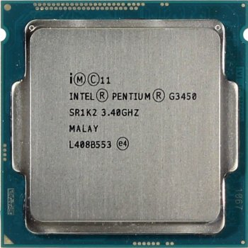 Процессор Intel Original Pentium X2 G3450 Socket-1150 (CM8064601482505S R1K2) (3.4/5000/3Mb/Intel HDG) OEM