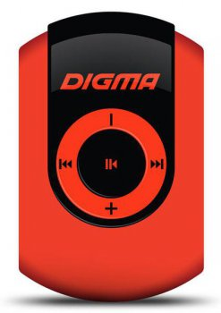 Плеер MP3 Digma C1 4Gb red FM HedPh WMA \\WMA\Clip
